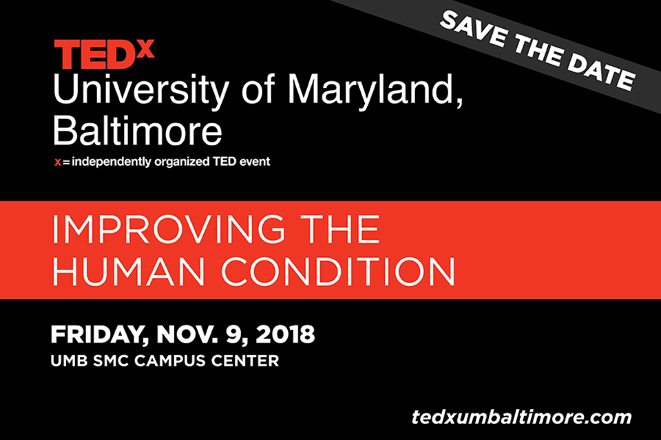 Save the Date: TEDx is coming to UMB on November 9