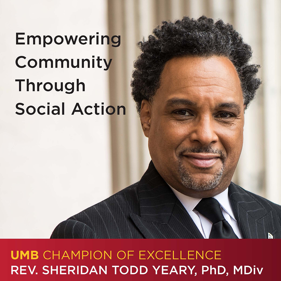 UMB Champion of Excellence: Rev. Sheridan Todd Yeary
