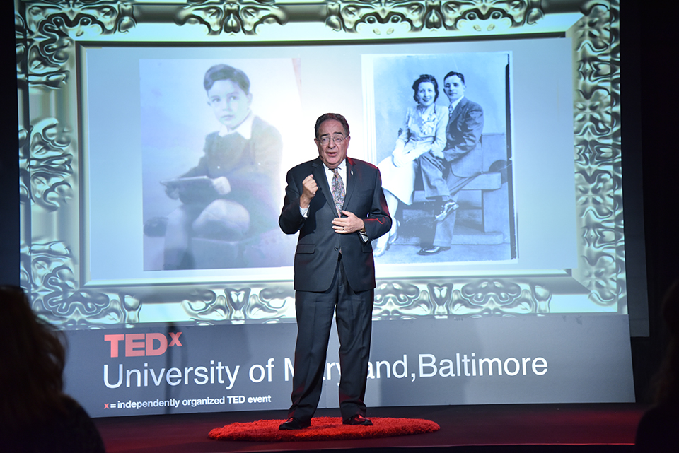 Dr. Perman talks at the TEDx UMB event