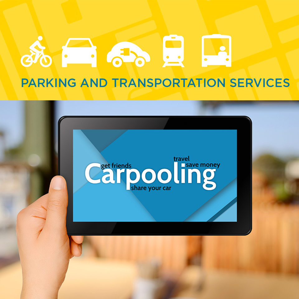 Carpooling on a tablet