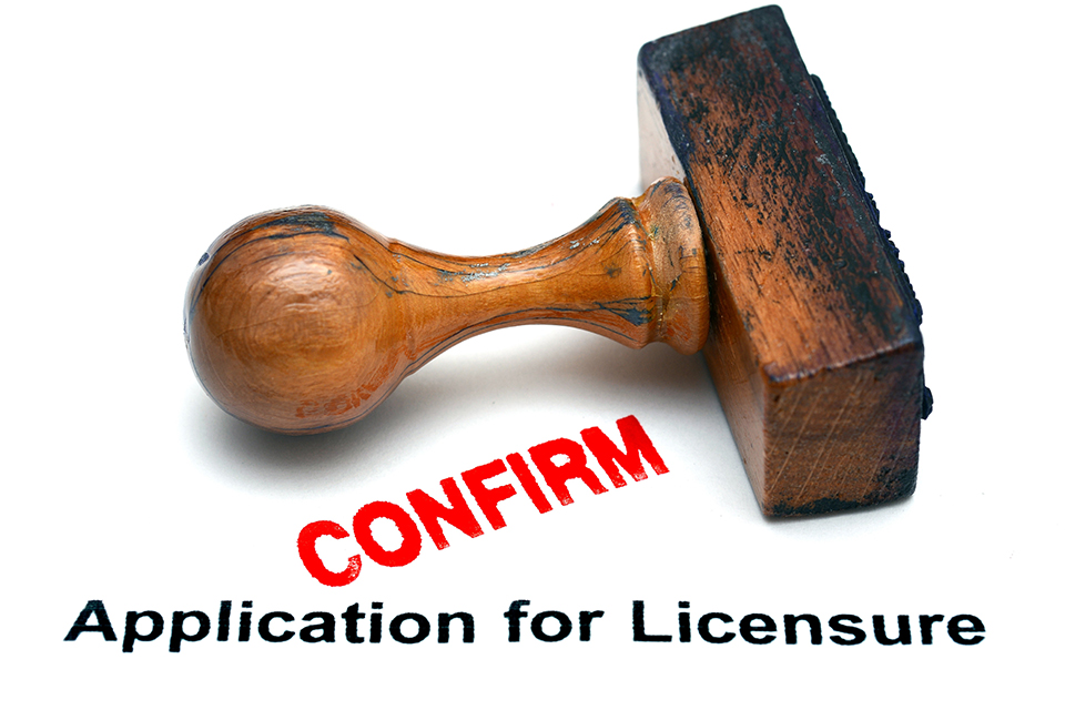 Application for licensure