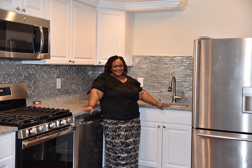 Tara Wells in kitchen