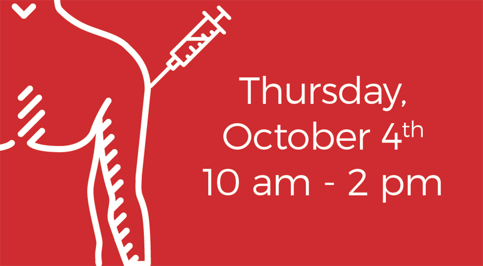 Thursday, Oct. 4, 10 a.m. to 2 p.m.