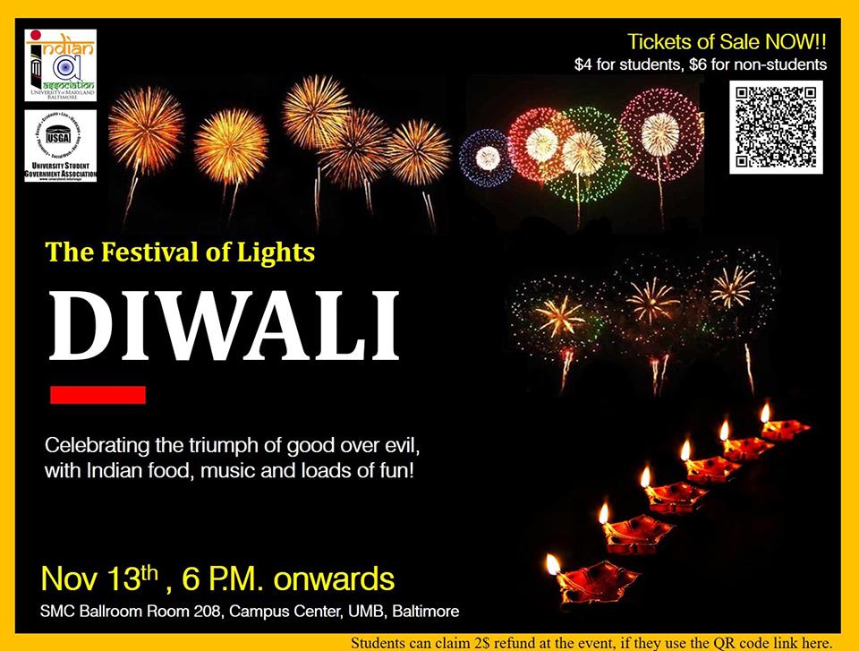Diwali: The Festival of Lights flyer