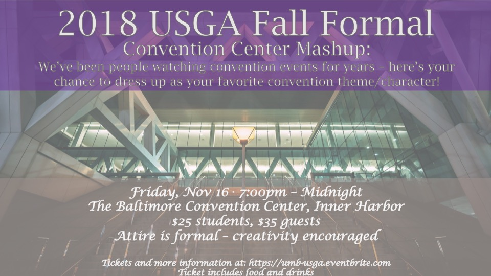 UMB USGA Fall Formal poster