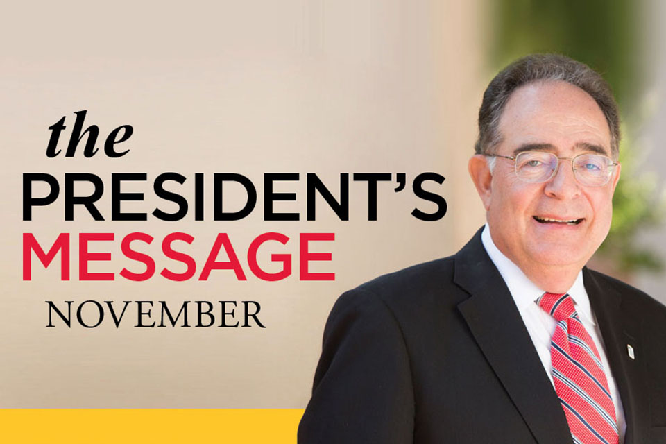 The President's Message-November