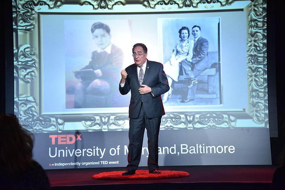 Dr. Perman speaking at TEDx UMB