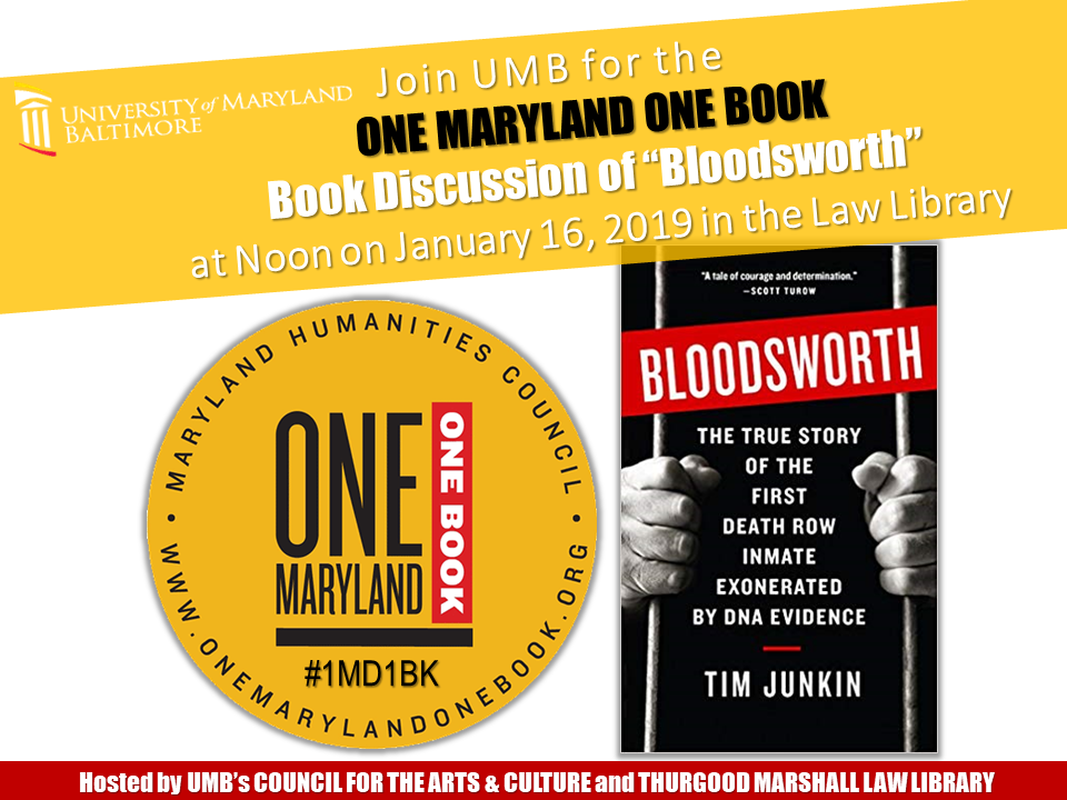 """Bloodsworth"" Book Discussion"
