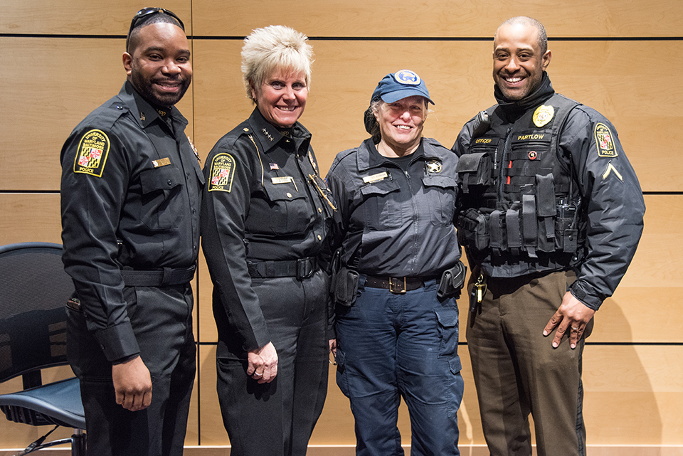 UMB Police with B.B. St. Roman